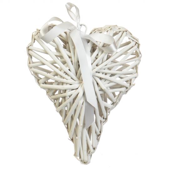 """Декор из лозы """"Плетёное сердце"""" 20*24 см (5002-006)"""