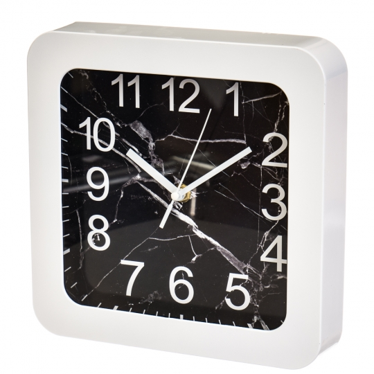 """Часы """"Чёрно-белый квадрат"""" (23см) (2003-015)"""