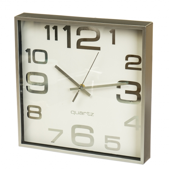 "Часы ""Белый ретро квадрат"" (28см) (2003-018)"