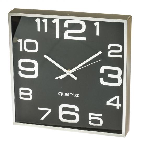 """Часы """"Чёрный ретро квадрат"""" (28см) (2003-019)"""