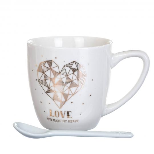 """Чашка  """"Love you"""" 150 мл. *рандомный выбор дизайна (8201-008)"""