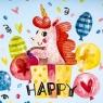 """Поднос """"Happy unicorn"""" (8113-032)"""