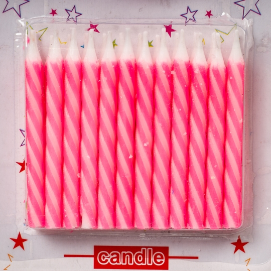 """Свечи для торта """"Розовые"""" (8133-004)"""