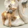 """Фигурка светящаяся """"Санта и его помощник"""" (025ND)"""