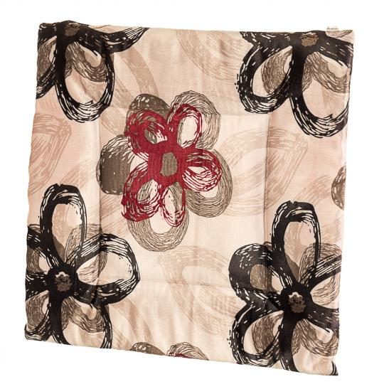 """Подушка для стула """"Тёмные цветы"""" (0392JH)"""