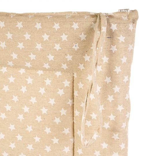 """Подушка для стула """"Звёзды"""" светлые (0400JH)"""