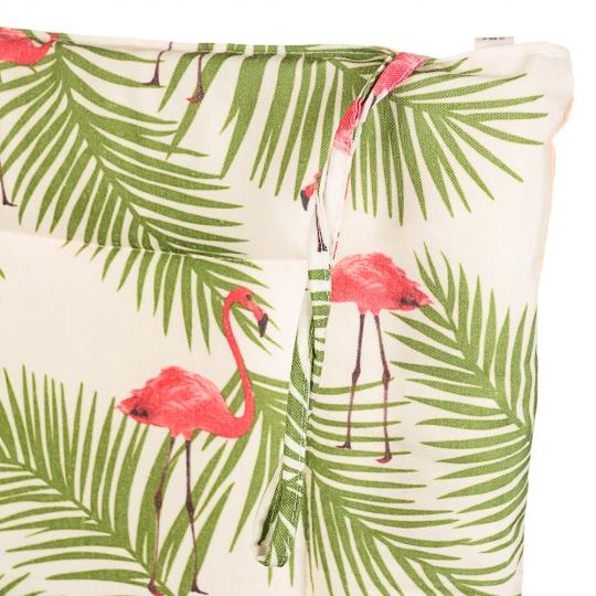 """Подушка для стула """"Фламинго под пальмой"""" (0404JH)"""