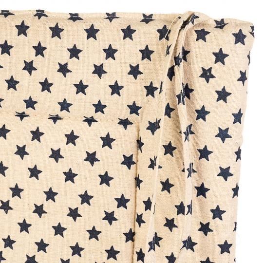 "Подушка для стула ""Звёзды"" темные (0401JH)"