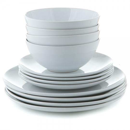 Набор столовый (12 предметов на 4 персоны) (001AA/WHITE)