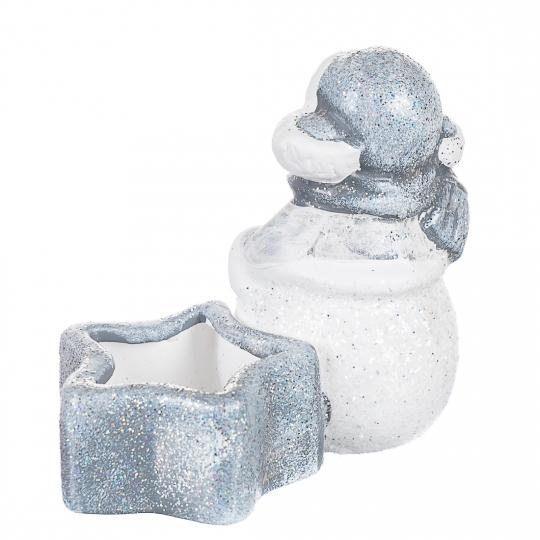 """Подсвечник """"Снеговик со звездой"""" (0479J/B)"""