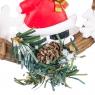 Новогодняя подвеска венок дед мороз;снеговик (0513J)