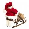 "Фигура ""Дед Мороз с мешком на санях"" (033NC)"