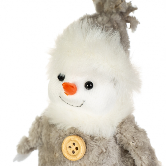 """Фигурка """"Снеговик белый  бумбон"""" (012NM)"""