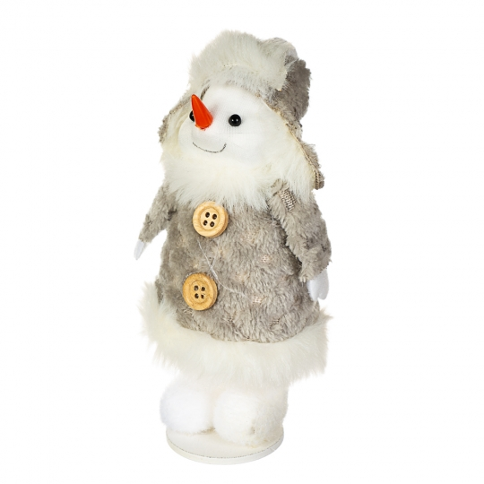 "Фигурка ""Снеговик в шапке серый"" (014NM)"