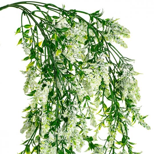 Свисающая зелень с цветочками (8412-003)
