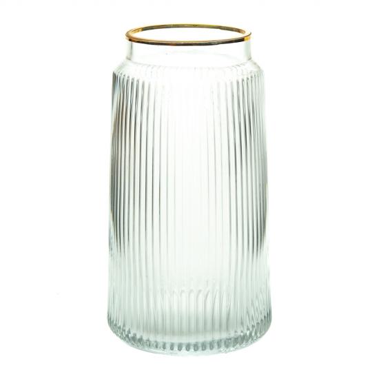"""Стеклянная ваза """"След на воде"""", 23 см. (8605-043)"""