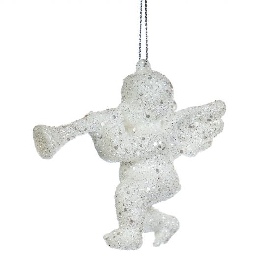 """Ёлочная игрушка """"Ангел с трубой"""" (016NZ)"""