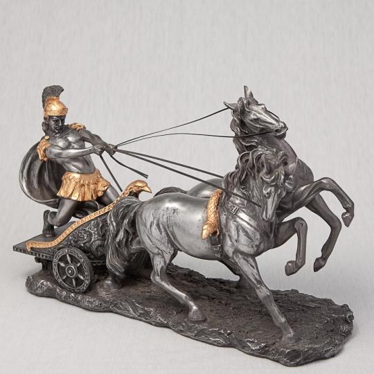"""Статуэтка """"Римский воин на колеснице"""" (17 см) (72011A7)"""