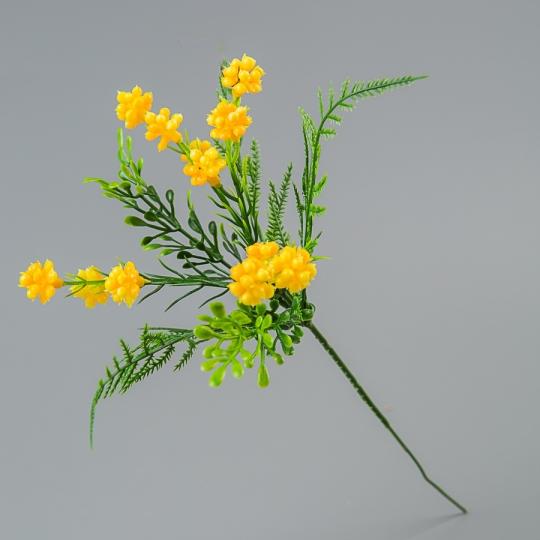 Искусственный букет (23 см) (025FL/yellow)