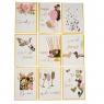 """Серия открыток """"Flowers"""" белые с золотым (8128-003)"""