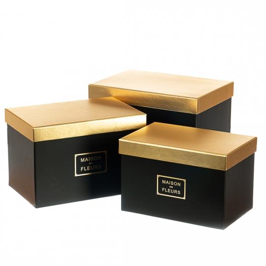 """Набор коробок """"Элегантность"""" (black) (014YA-bk)"""