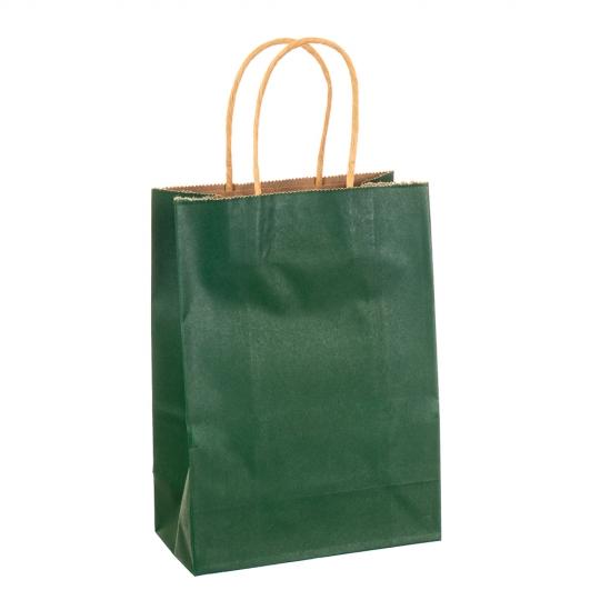 Крафтовый пакет зеленый (8017-001)