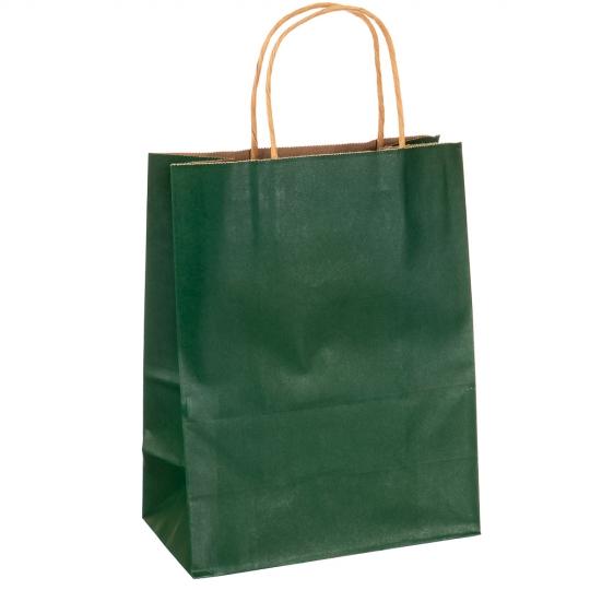 Крафтовый пакет зеленый большой (8017-004)