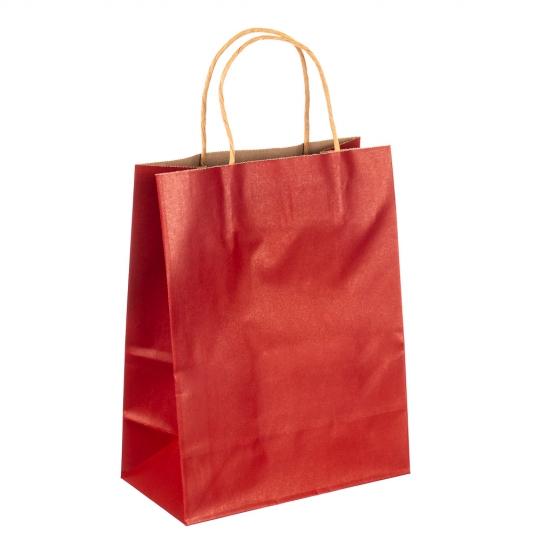 Крафтовый пакет красный большой (8017-005)