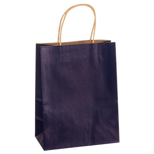 Крафтовый пакет синий большой (8017-006)