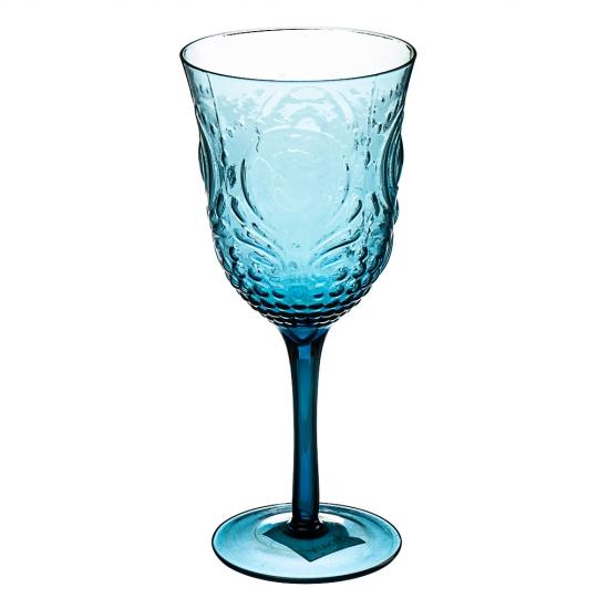 Бокал с узором голубой (001HH/blue)