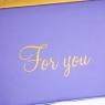"""Коробка """"For you"""" 8*8 см (8020-017)"""