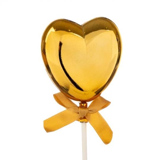 Топпер Шарик в форме сердца золото (8132-007)