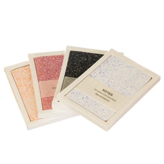 """Блокнот """"Сияющие блёстки"""", 3 вида (80 листов) (8016-006)"""