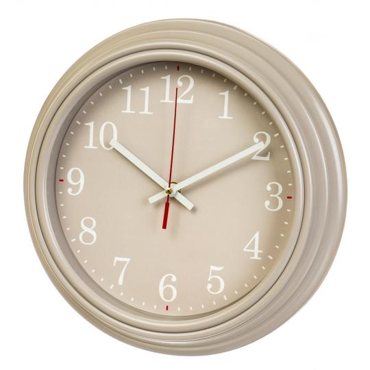"""Часы  """"Бежевый минимализм"""" (30см) (2003-003)"""