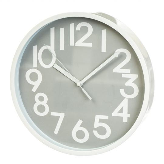 """Часы """"Светлый графит""""  (25 см) (2003-006)"""