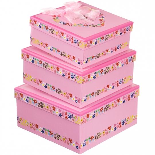 """Набор подарочных коробок 3 шт. """"Best for you"""""""