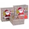 """Набор из 3 коробок """"Санта с елкой""""   20*20*9,5 (8211-049)"""
