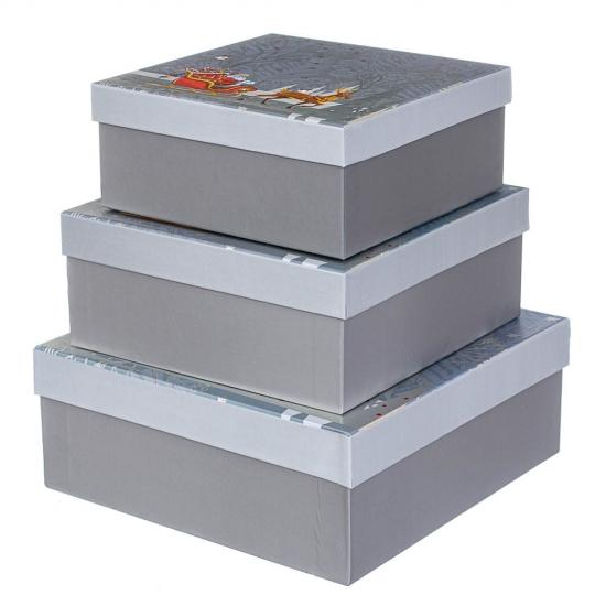 "Набор из 3 коробок ""Зима""   28*28*11 (8211-053)"
