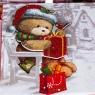 "Набор из 3 коробок ""Новогодний мишка""   20*20*9,5 (8211-057)"