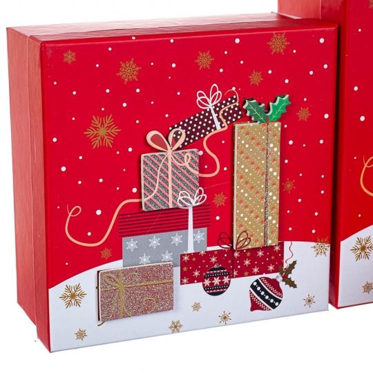 "Набор из 3 коробок ""Подарок""   20*20*9,5 (8211-060)"