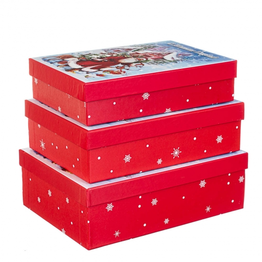 "Набор из 3 коробок ""Зимняя классика""   29*21*9,5 (8211-062)"