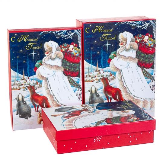"""Набор из 3 коробок """"Новогодняя открытка""""   29*21*9,5 (8211-063)"""