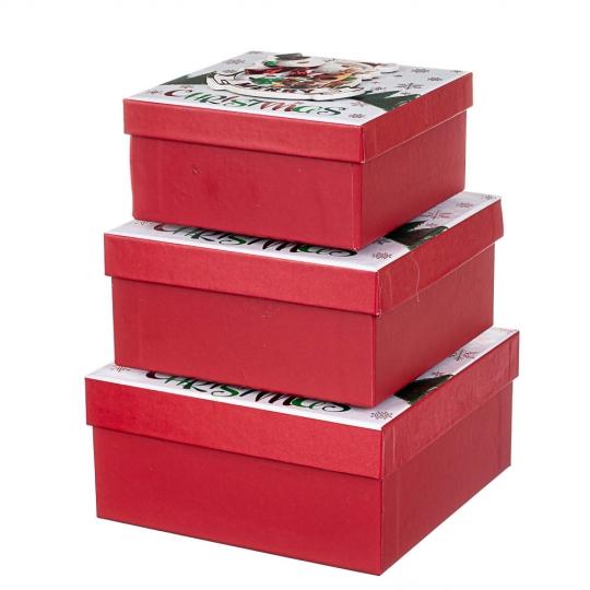"""Набор из 3 коробок """"Веселые друзья""""   20*20*9,5 (8211-066)"""