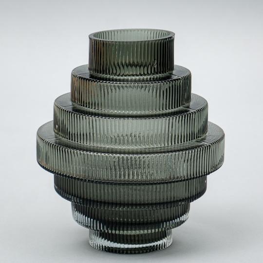 "Стеклянная ваза ""Торнадо"", 25 см. (8426-053)"