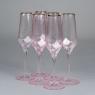 """Бокал для шампанского """"Розовый кварц"""", 300 мл. ТОЛЬКО САМОВЫВОЗ (8507-004)"""