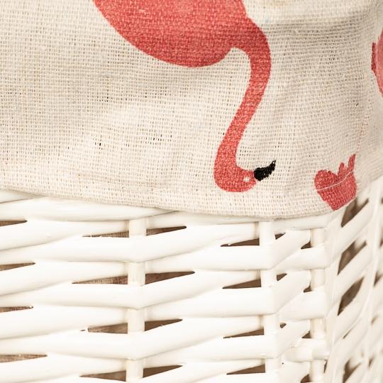 """Набор корзин для белья """"Фламинго"""" 3 шт. (056PV)"""