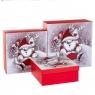 """Набор из 3 коробок """"Санта и Рудольф"""" 28*28*11 (8211-004)"""
