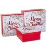 """Набор из 3 коробок """"Merry Christmas"""" белый20*20*9,5 (8211-007)"""