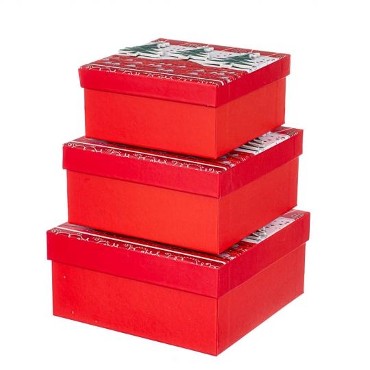 """Набор из 3 коробок """"Ель"""" 20*20*11 (8211-010)"""