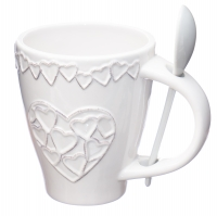 """Чашка с ложкой """"Сердца"""""""